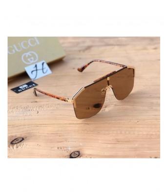 Gucci Brown Aviator Sunglasses