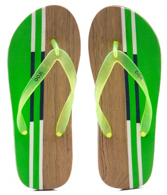 iroo Multi Color casual stripes SlipOn Chappals