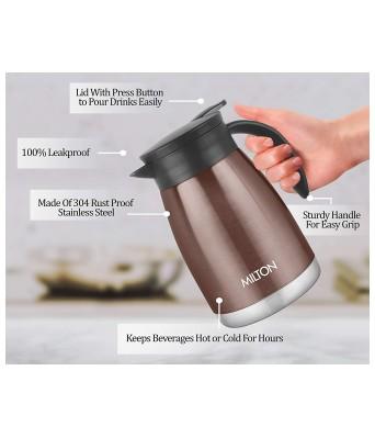 Milton Bistro 800 Thermosteel Carafe, 780 ml, Brown