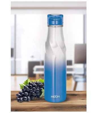 Milton Spiral 750 Thermosteel 24 Hours Hot or Cold Water Bottle, 710 ml, Blue