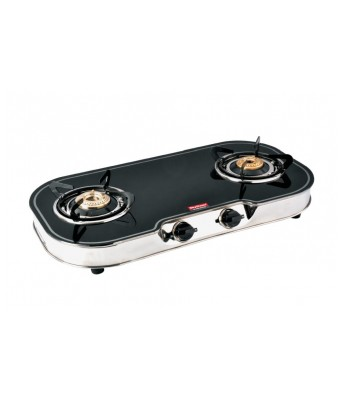Skyflame GT Elite Black 2 Burner Glasstop Gas Stove