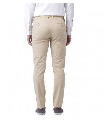 AFW Mens Cream Regular Wear Casual Trouser
