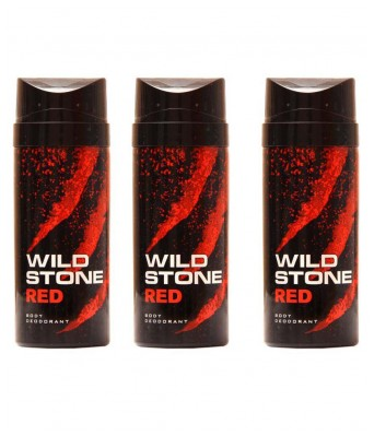 Wildstone Red Deodorants (Pack of 3)