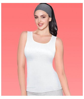 Enamor E025 Cotton Stay New Tank White