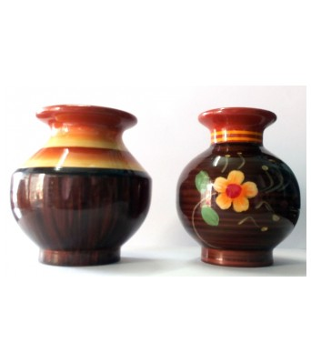 Royals Pride Wooden Flower Wooden Vase Pot Without Artificial Flowers For Table D?cor