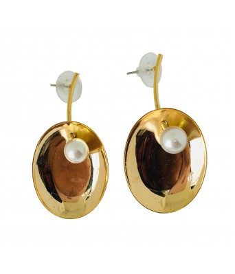 The Square One by Aditi Gautam ESRA  Yellow Gold and purle Stud Earrings for Women & Girls
