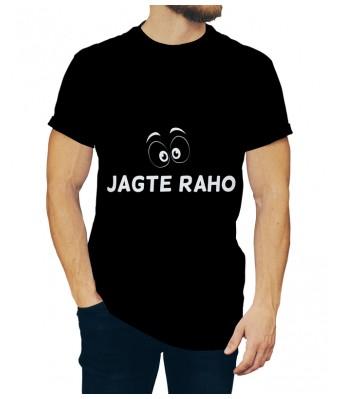 Jagte Raho iLyk Printed Cotton Black Color Round Neck T-shirt for Mens & Boys