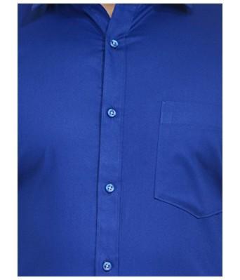 Koolpals Men Formal Rich Cotton Blend Shirt Royal Blue Solid