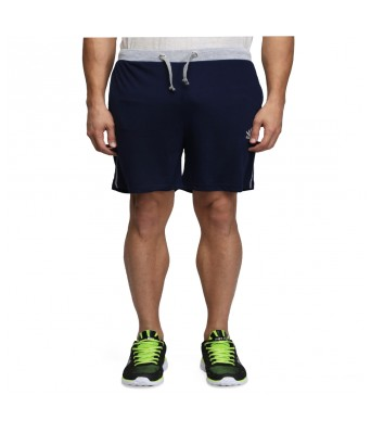 Abloom Blue  & White Cotton Stylish  Short