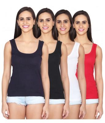 Ansh Fashion Wear Multi Color Cotton Spaghetti Pack of 4