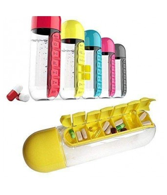 Pill Organizer Water Bottle For Week