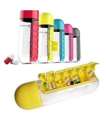 Pill Organizer Water Bottle For Week