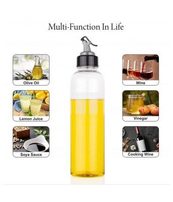 PREM ZONE 1000ml Oil Dispenser Plastic Combo Spout for Easy Pouring Leak-Proof Soy Sauce Vinegar Storage Oil Dispenser for Kitchen 1 Litre