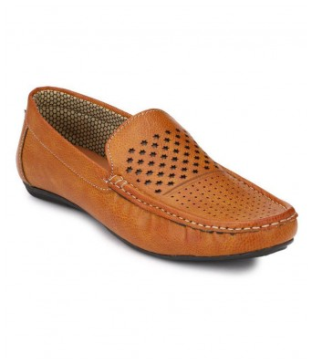 Boggy Confort Tan Synthetic Loafers for Mens & Boys