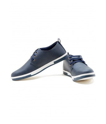 Iroo Mens Blue Canvas Shoes