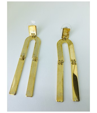 The Square One by Aditi Gautam Mahir Evolution Cute & Fancy Unique inverted Hanging U with Dull Gold  Earrings for Women & Girls