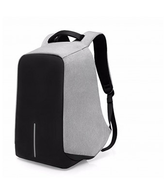 "Home Story Large Waterproof Anti Theft and USB Charging Casual Backpack Laptop Bag for 15.6"" Laptops, Grey Black Color"
