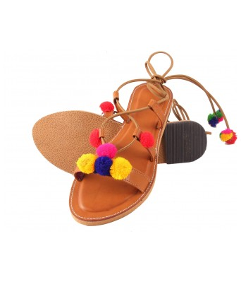 AMAZING TRADERS Leather Sandal For Womens,Girls (Brown Color)
