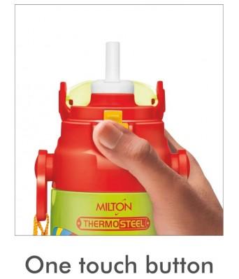 Milton Kidzy 650 Stainless Steel Insulated Water Bottle, 500 ml, Green