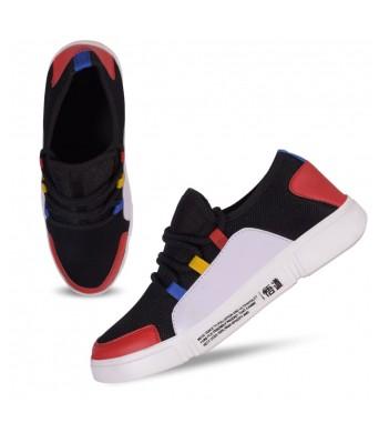 Black red sneakers