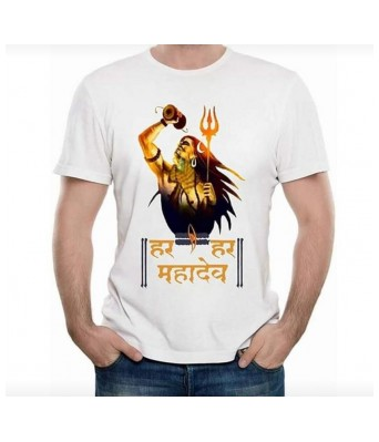 Hyper Take Mens Mahashivratri Round Neck Golden Yellow Color
