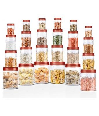 Milton Vitro Plastic Jar Set, 24- Pieces, Transparent