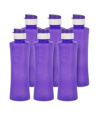 G-PET Daffodil BPA Free Fridge Water Bottle 1 ltr Purple -  Pack Of 6 Bottles