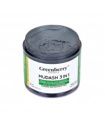 Greenberry Organics Mudash 3 In 1 and Daily Detox Charcoal Gel Mask - 100gms Each