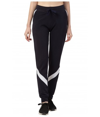 Dry Fit Solid Women's Solid Navy Blue Track Pant