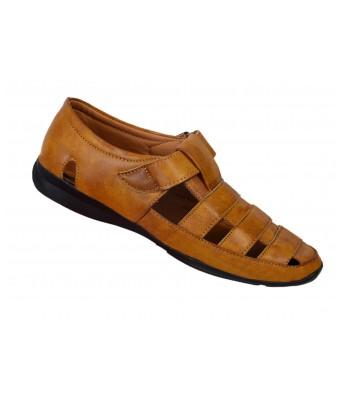 Shoes Kingdom Tan Color Stylish Casual Sandals for Men & Boys