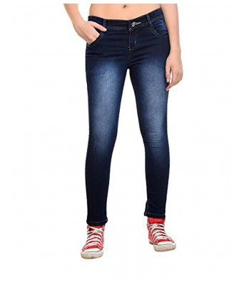 Ansh Fashion Wear Womens Regular Fit Denim Strechable Round Pocket Light Faded Clean Look  Dark Blue Color Jeans