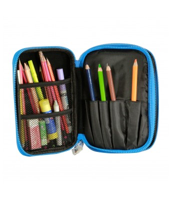 Fancy Double Compartment Pencil Case (Black)