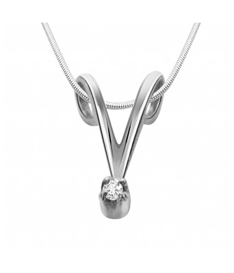 Royal Real Diamond & Sterling Silver Pendant with 18